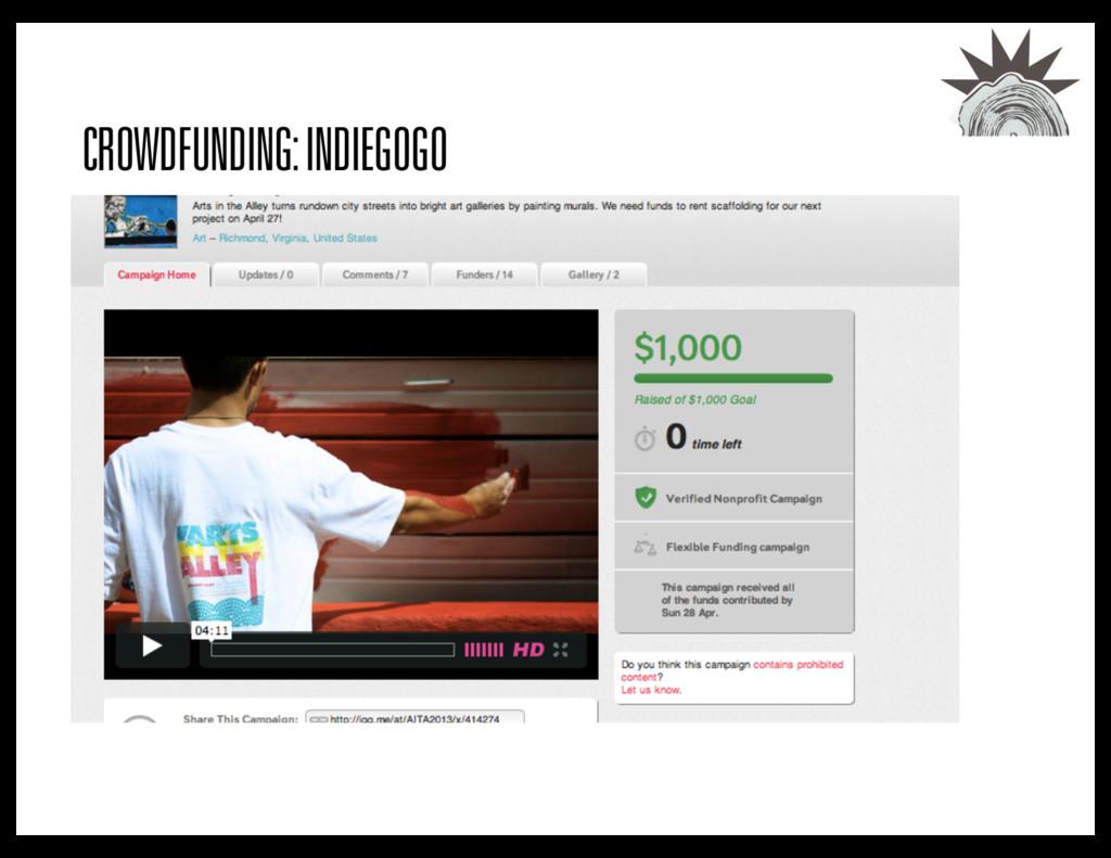CROWDFUNDING: INDIEGOGO