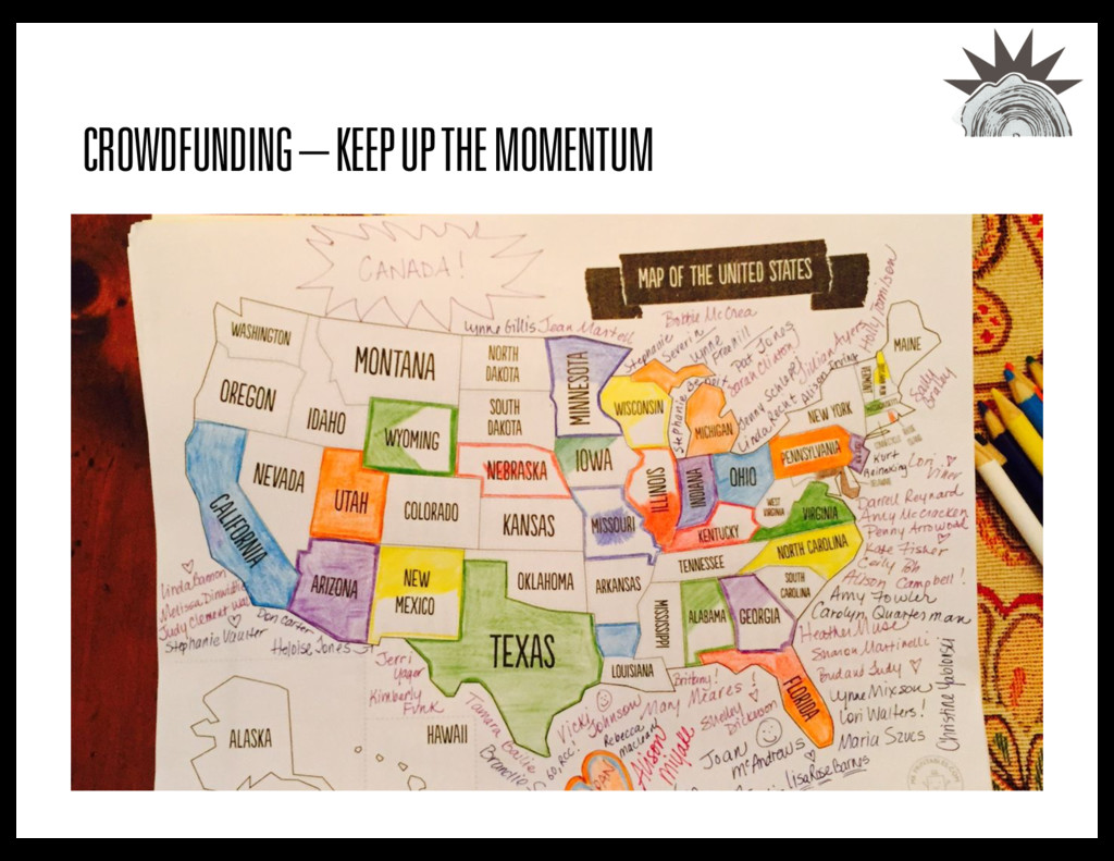 CROWDFUNDING – KEEP UP THE MOMENTUM