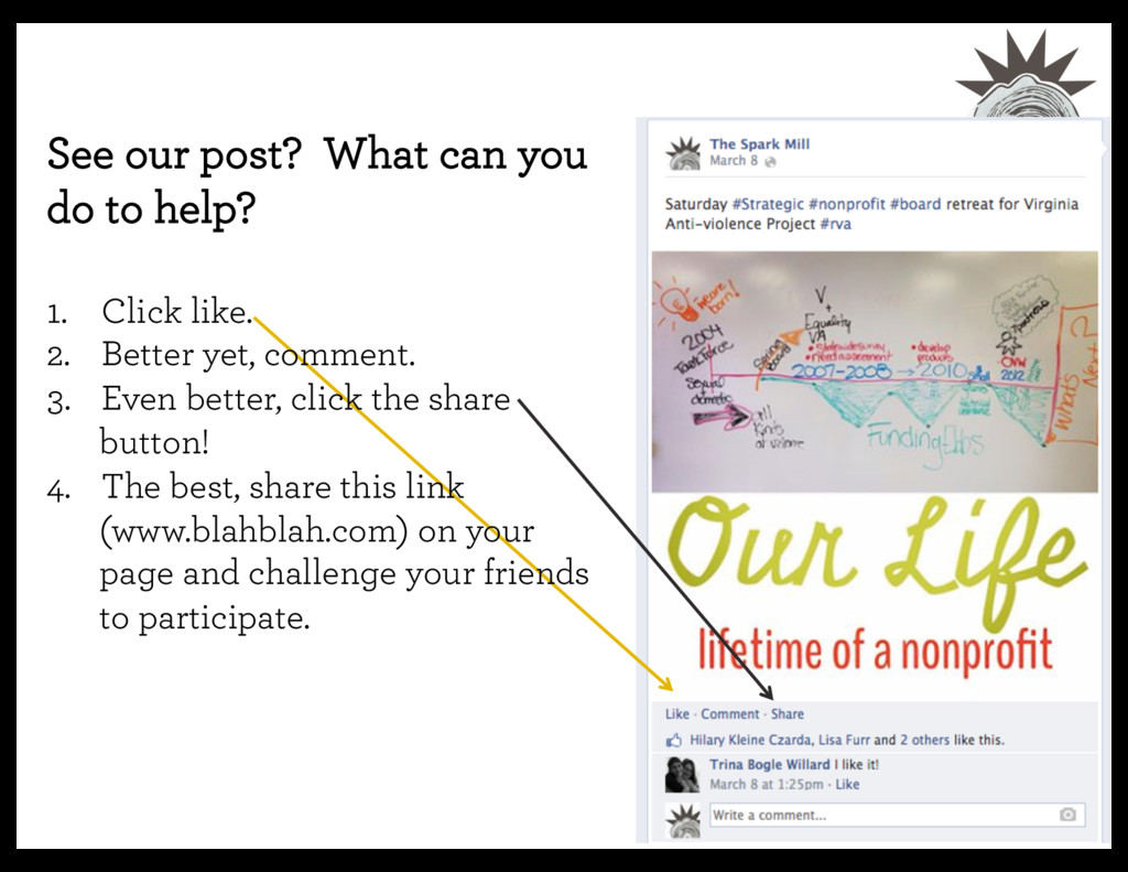 See our post? What can you do to help? 1. Cl...