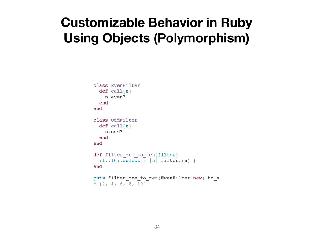 34 Customizable Behavior in Ruby Using Objects ...