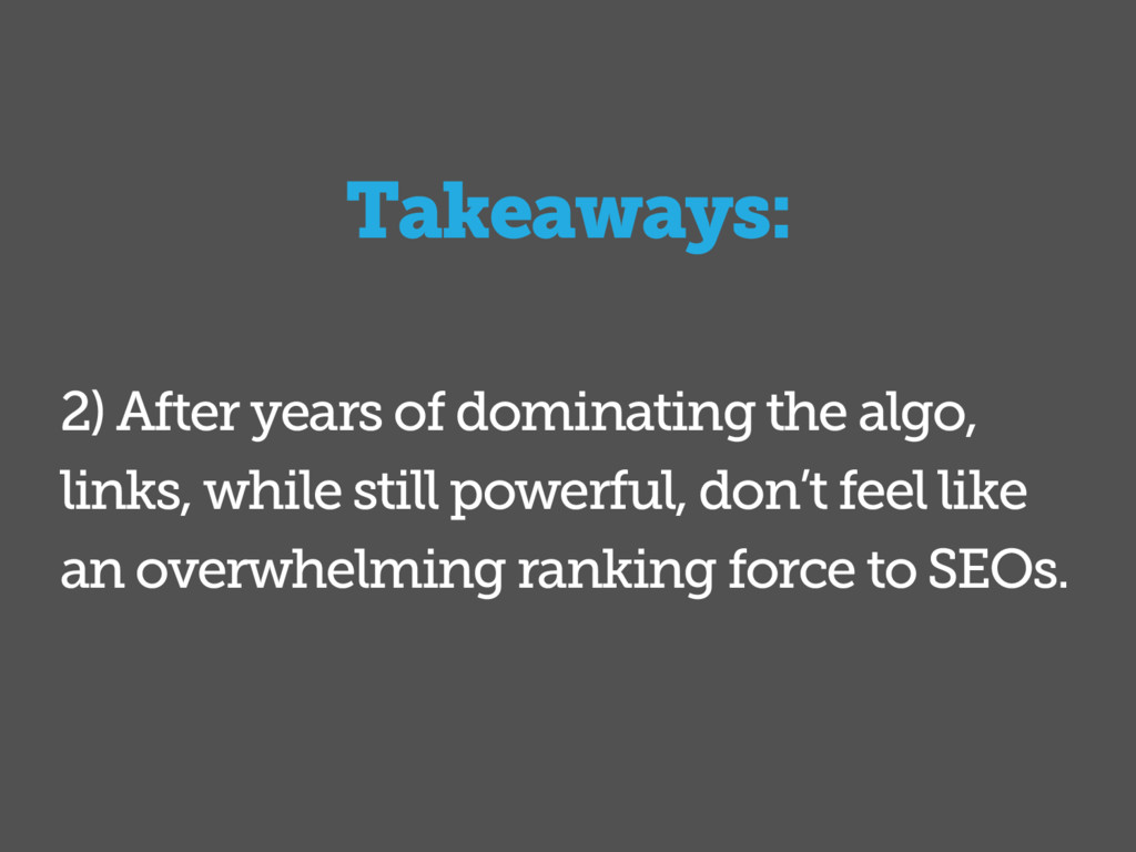2) After years of dominating the algo, links, w...