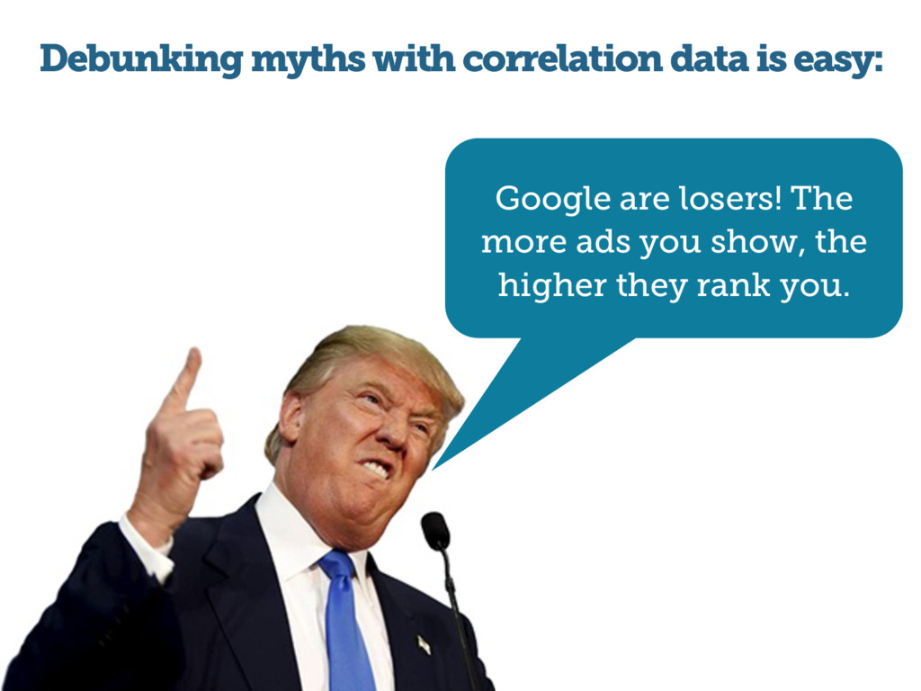 Debunking myths with correlation data is easy: ...