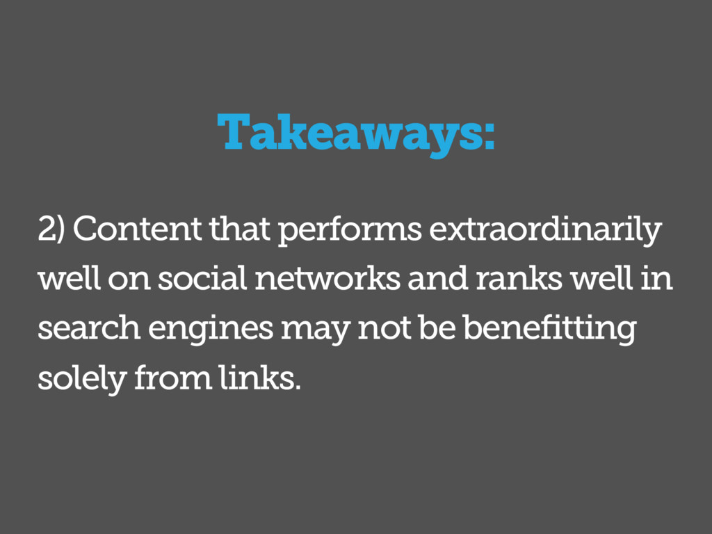 2) Content that performs extraordinarily well o...
