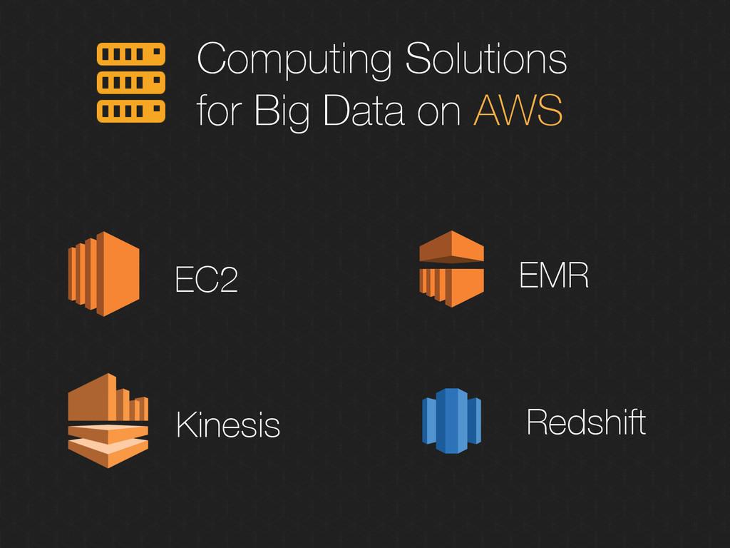 Computing Solutions for Big Data on AWS Kinesis...