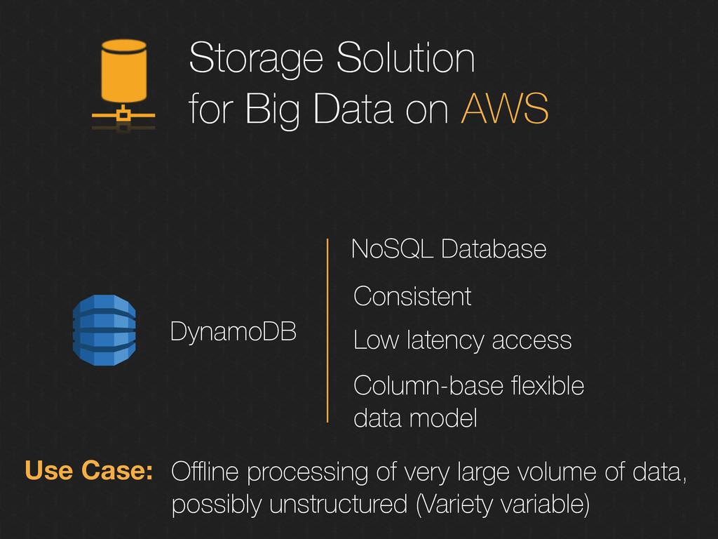 Storage Solution for Big Data on AWS DynamoDB N...