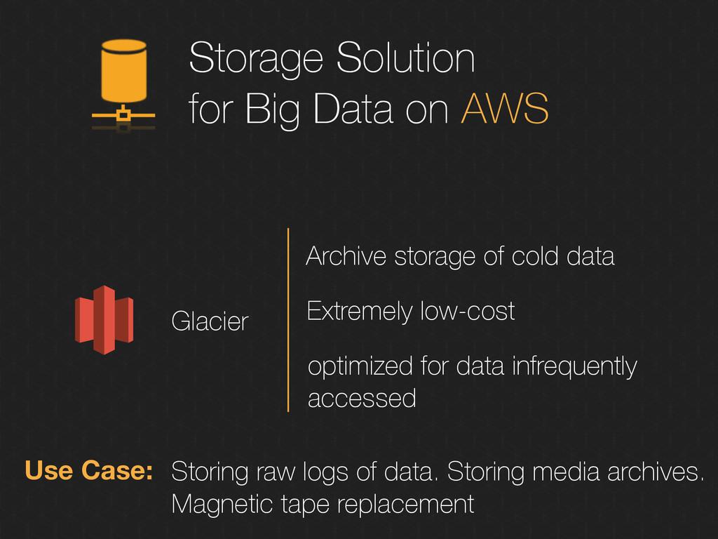 Storage Solution for Big Data on AWS Glacier Us...