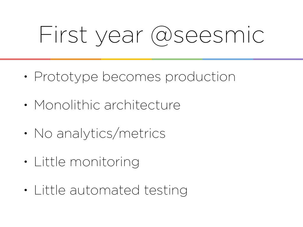 First year @seesmic • Prototype becomes product...