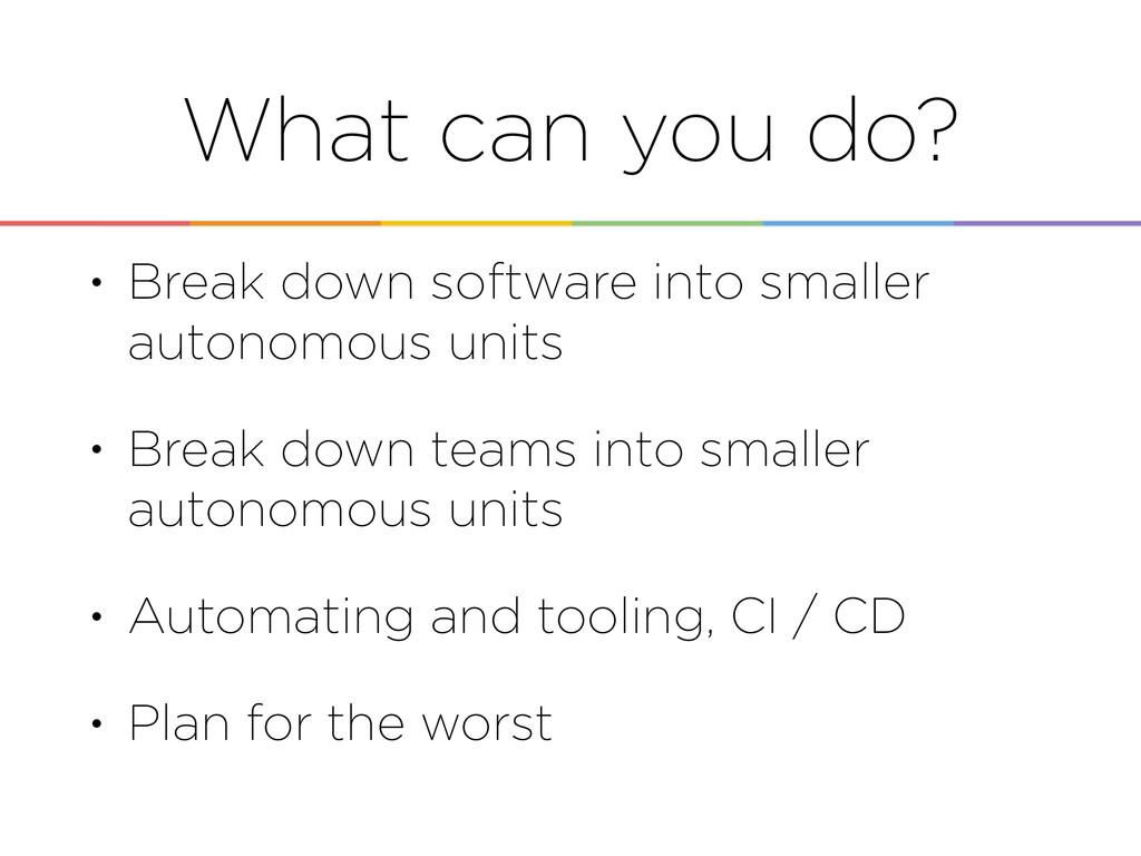 • Break down software into smaller autonomous u...