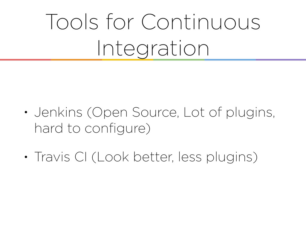 Tools for Continuous Integration • Jenkins (Ope...