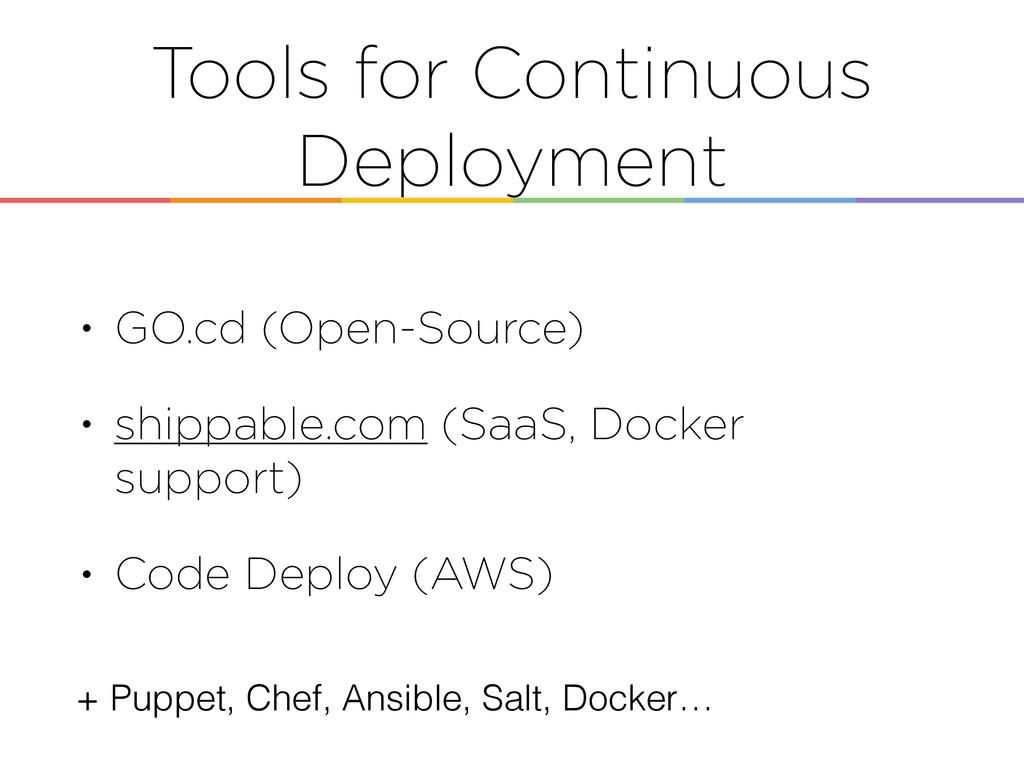 Tools for Continuous Deployment • GO.cd (Open-S...