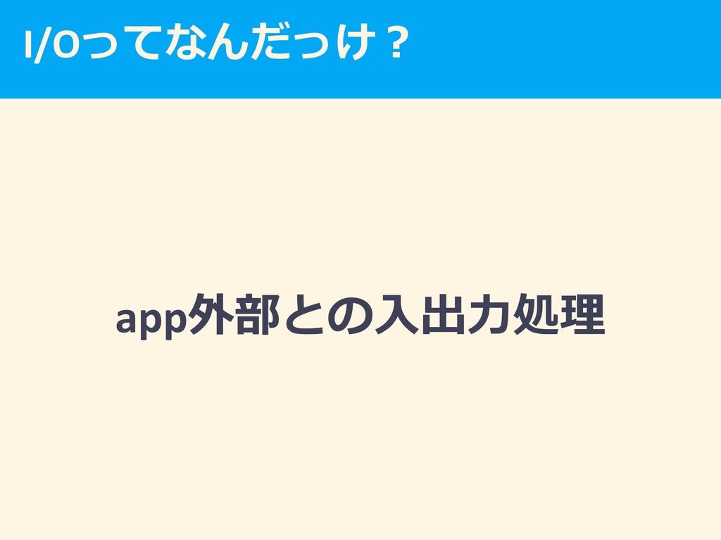 I/O  app