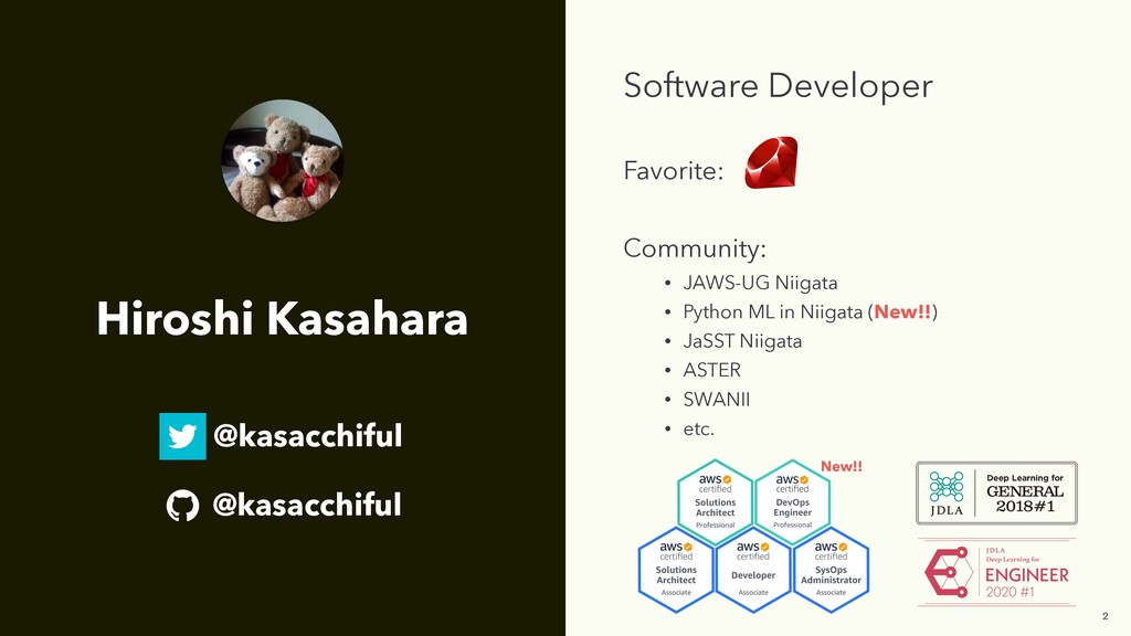 Software Developer Favorite: Community: • JAWS-...