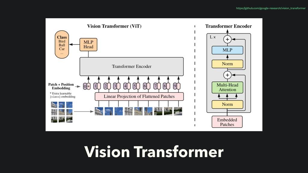Vision Transformer https://github.com/google-re...