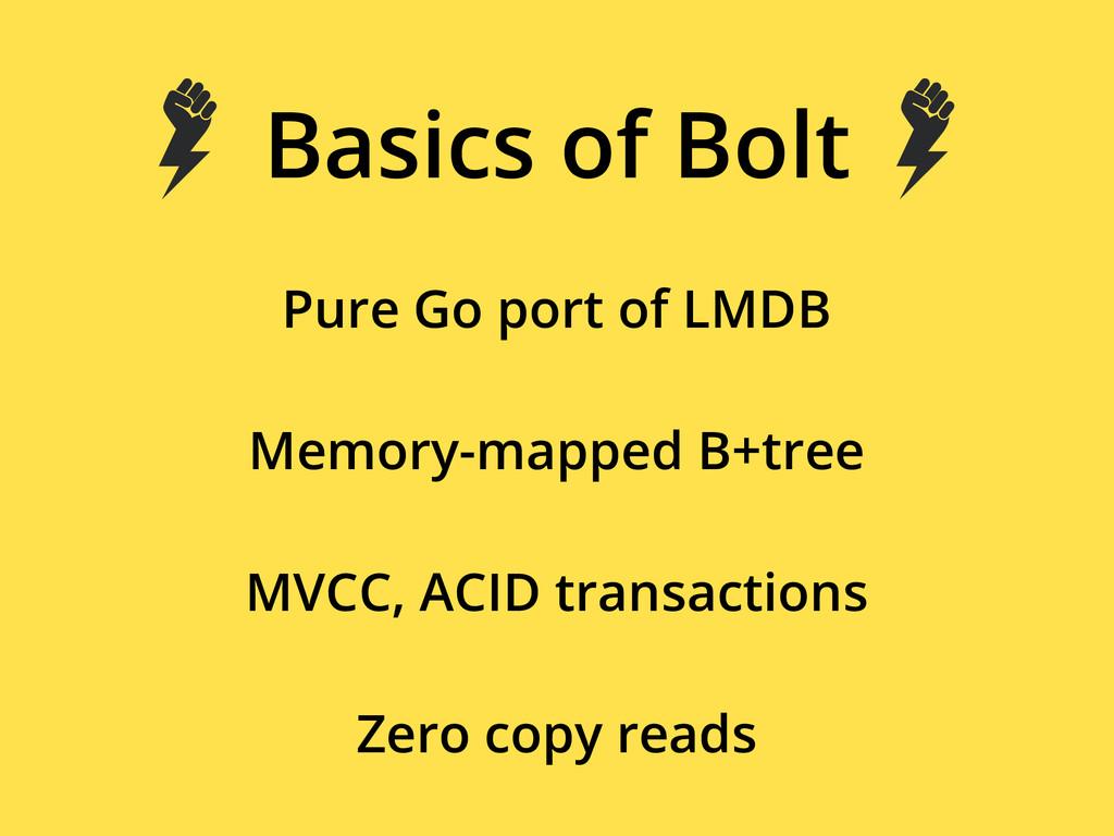 Basics of Bolt Pure Go port of LMDB Memory-mapp...