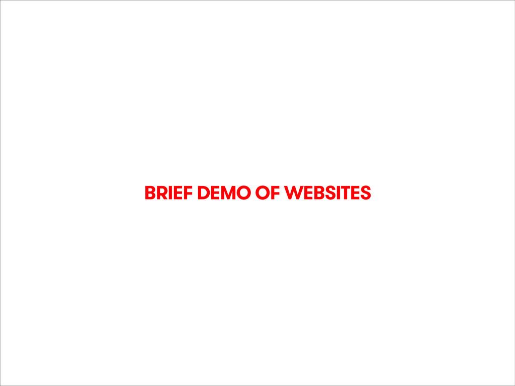 21 Feb 2014 @orta BRIEF DEMO OF WEBSITES