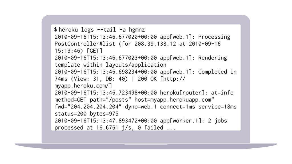 heroku logs --tail -a hgmnz 2010-09-16T15:13:46...