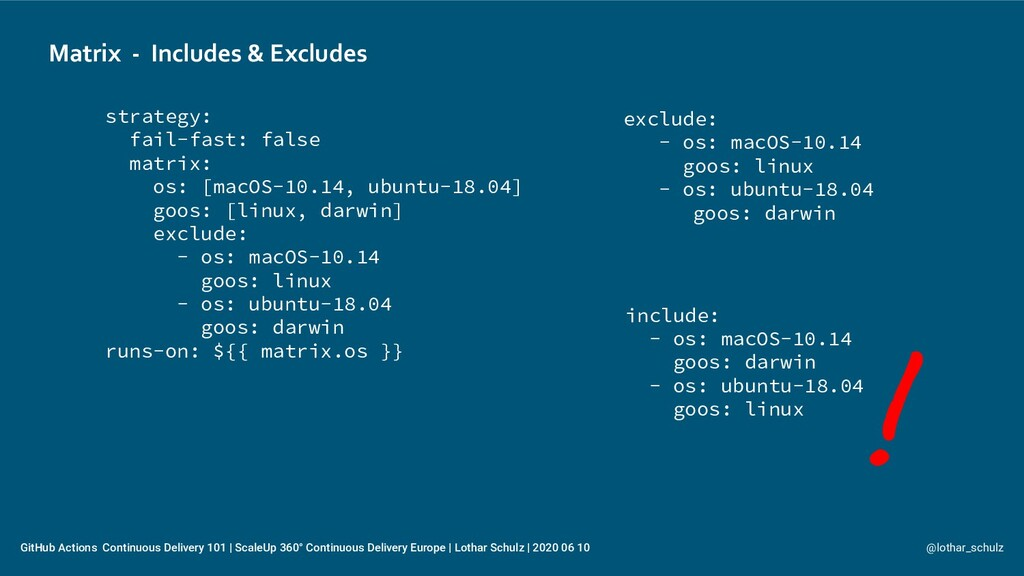Matrix - Includes & Excludes @lothar_schulz Git...