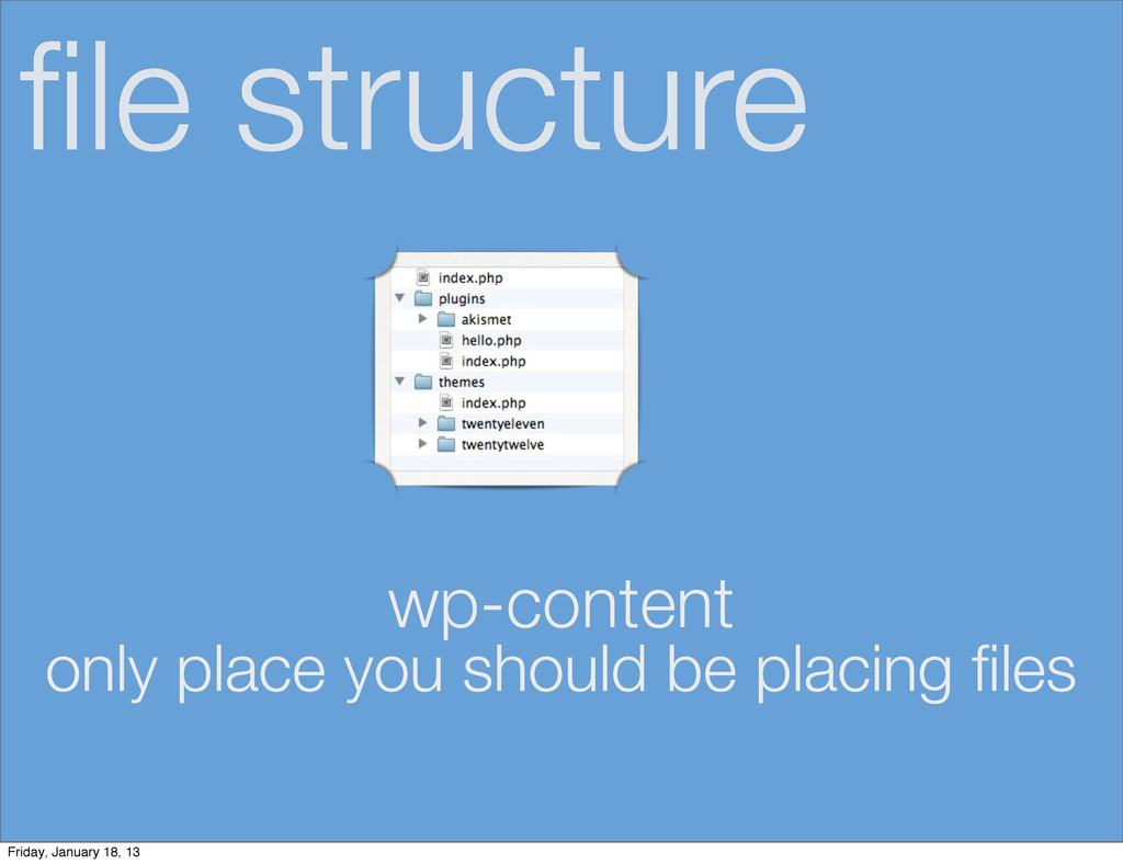 file structure wp-content only place you should ...