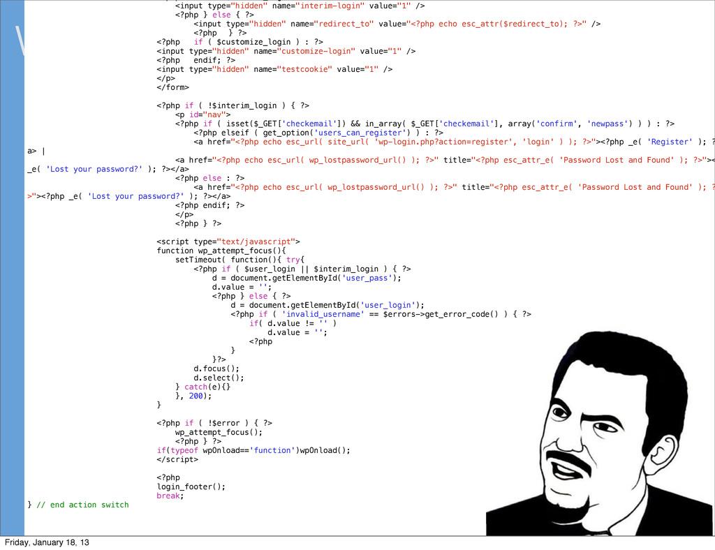 "What's in core code? <input type=""hidden"" name=..."