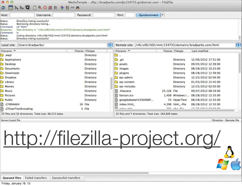 http://filezilla-project.org/ Friday, January 18...