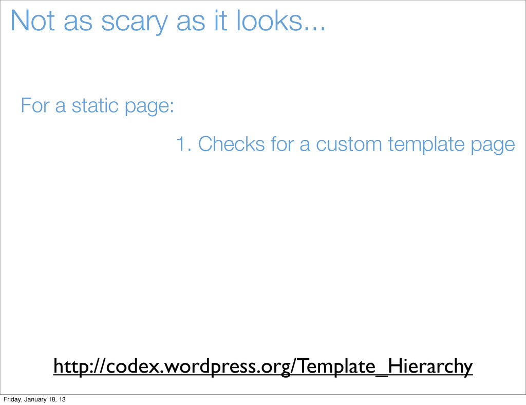 Not as scary as it looks... For a static page: ...