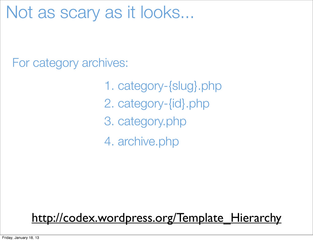 Not as scary as it looks... For category archiv...
