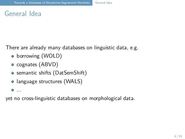 Towards a Database of Morpheme-Segmented Wordli...