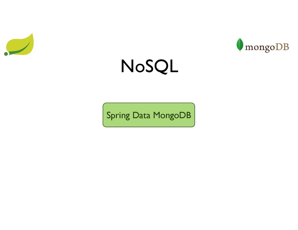 NoSQL Spring Data MongoDB