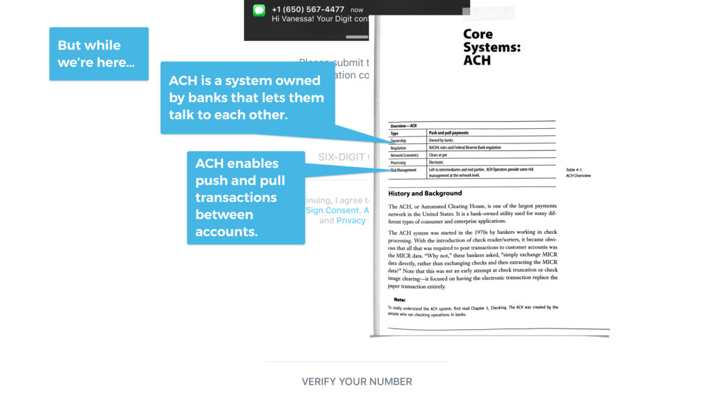 ACH enables push and pull transactions between ...