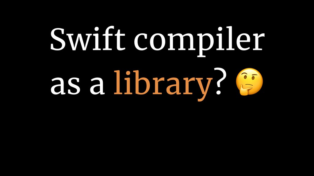 Swift compiler 