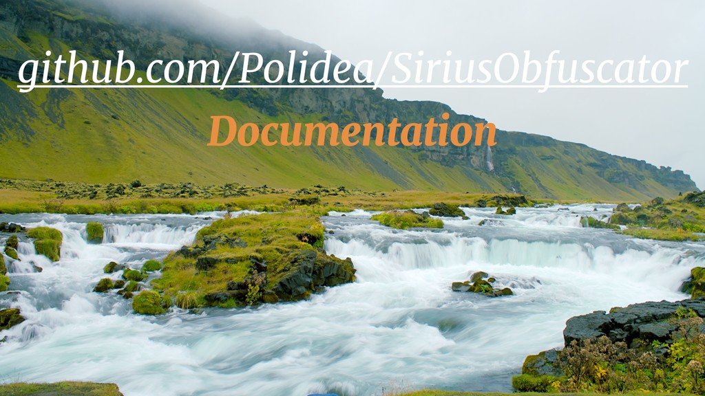 github.com/Polidea/SiriusObfuscator Documentati...