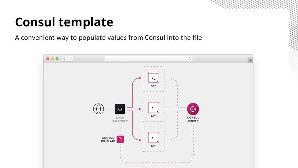 Consul template A convenient way to populate va...