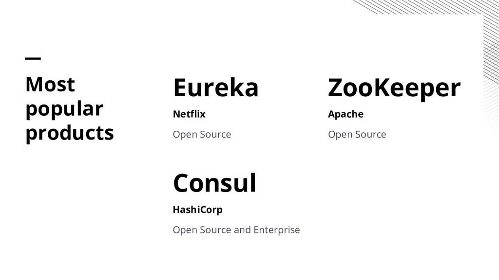 Eureka Netflix Open Source Consul HashiCorp Ope...