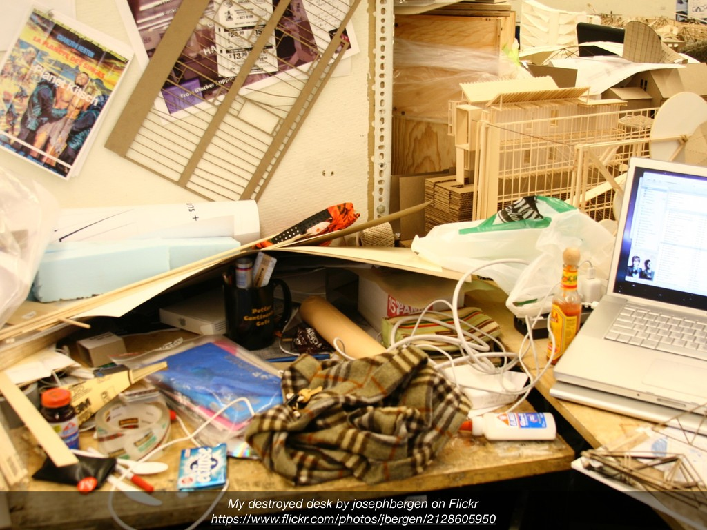 My destroyed desk by josephbergen on Flickr htt...