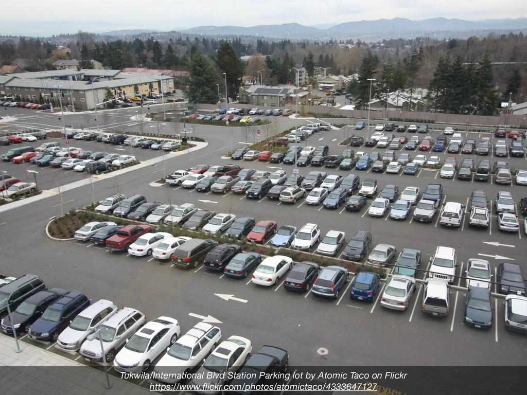 Tukwila/International Blvd Station Parking lot ...