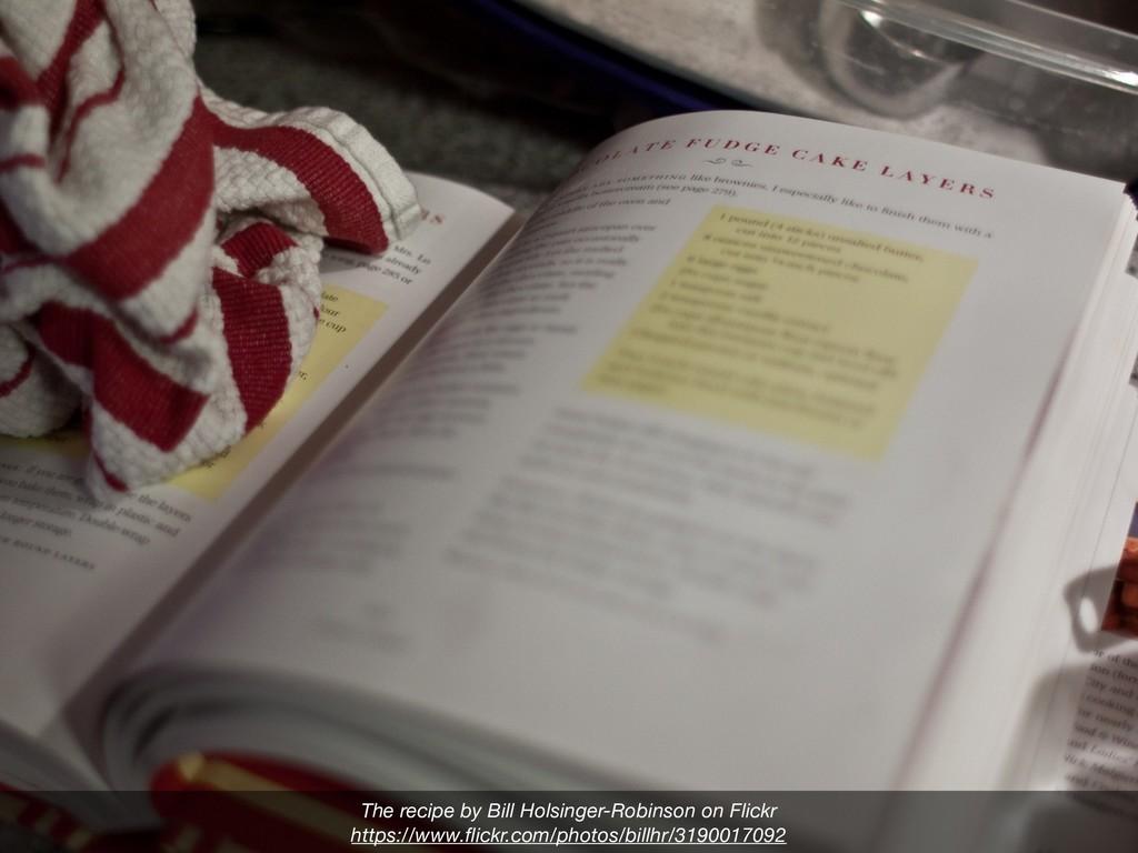 The recipe by Bill Holsinger-Robinson on Flickr...