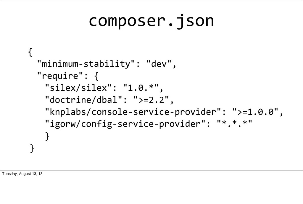 composer.json 	