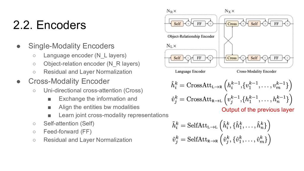 2.2. Encoders ● Single-Modality Encoders ○ Lang...