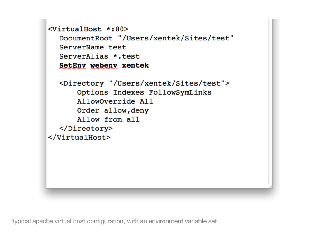 typical apache virtual host configuration, with ...