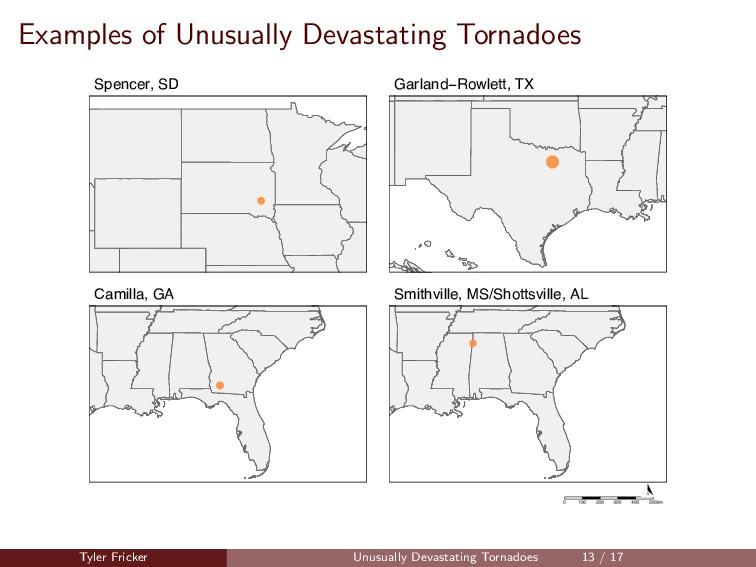 Examples of Unusually Devastating Tornadoes Spe...