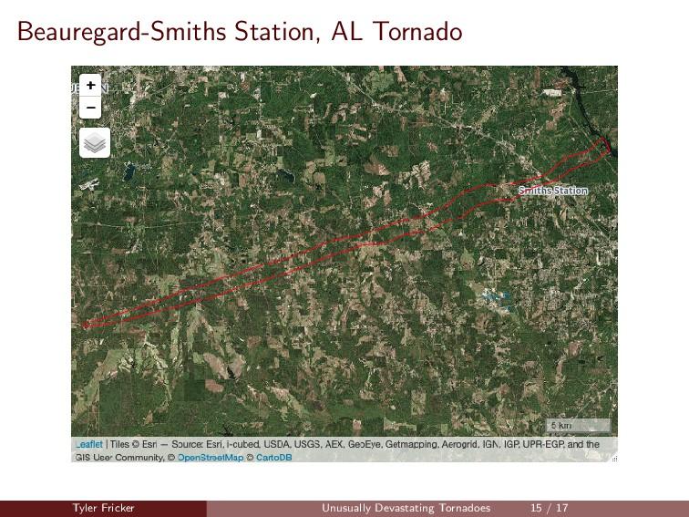 Beauregard-Smiths Station, AL Tornado Tyler Fri...