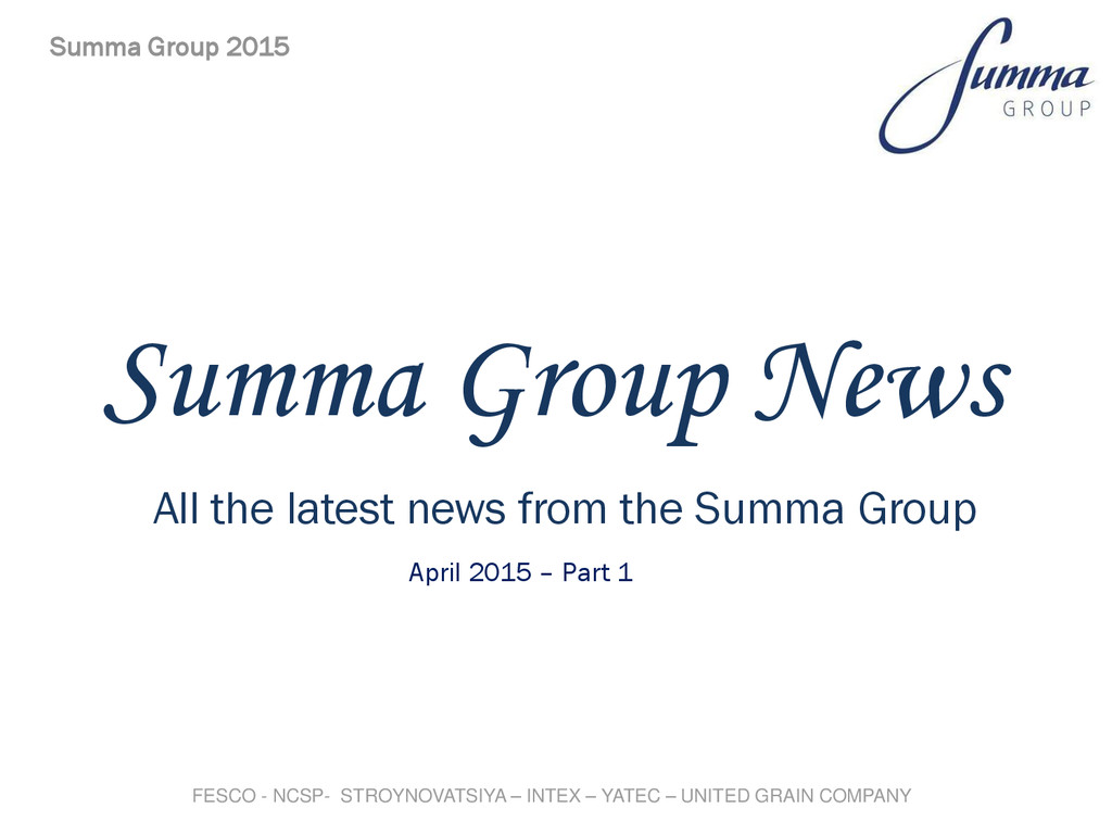 Summa Group News All the latest news from the S...