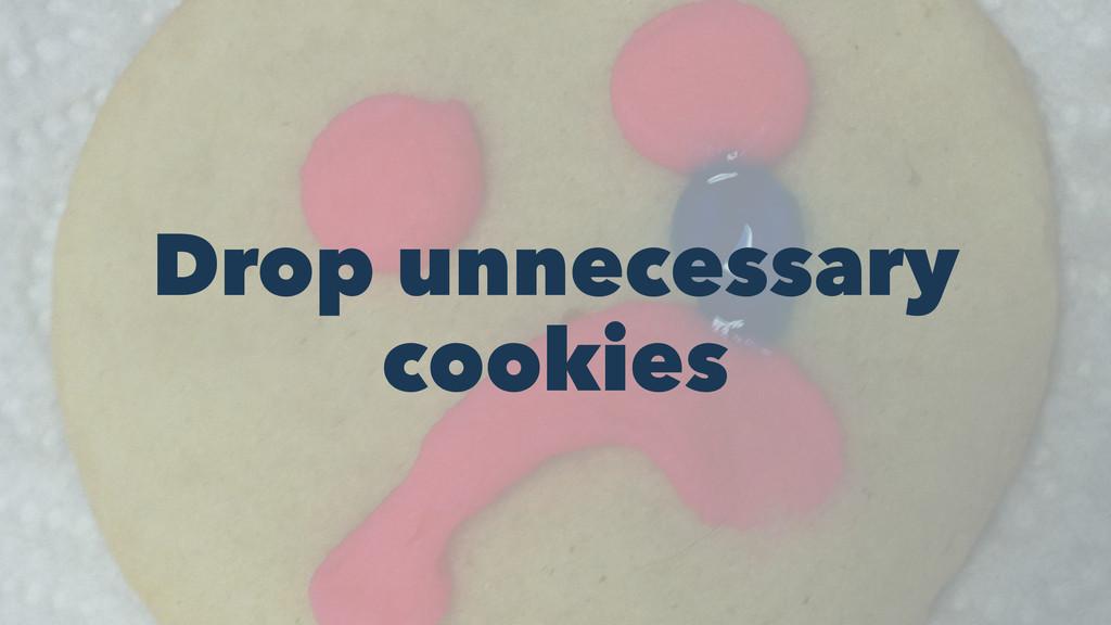 Drop unnecessary cookies