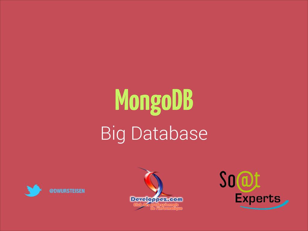 MongoDB Big Database @DWURSTEISEN