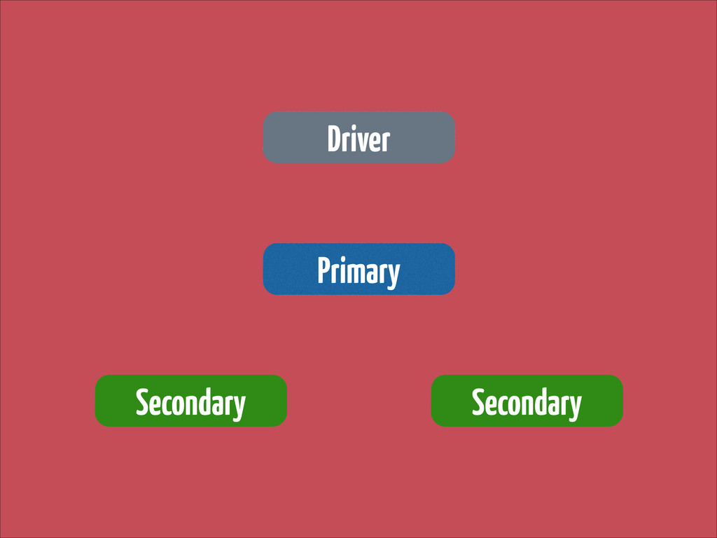 Driver Primary Secondary Secondary