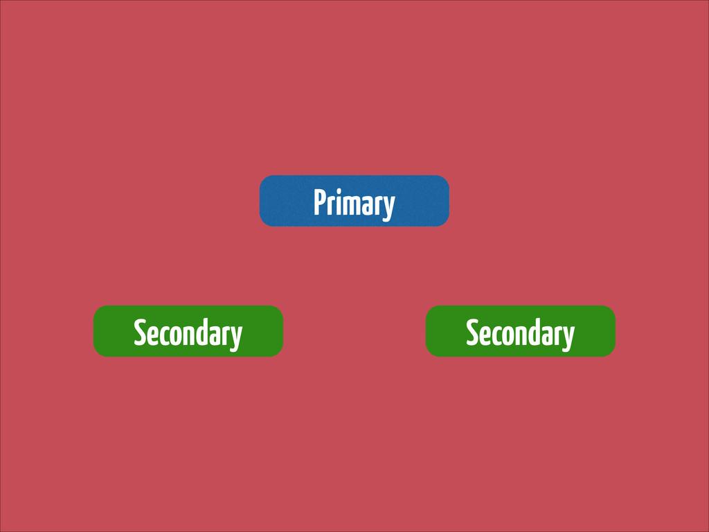 Primary Secondary Secondary