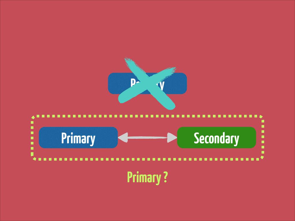 Primary Primary Secondary Primary ?