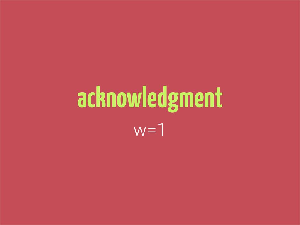 acknowledgment w=1