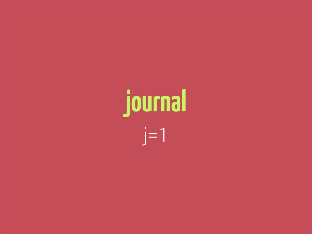 journal j=1