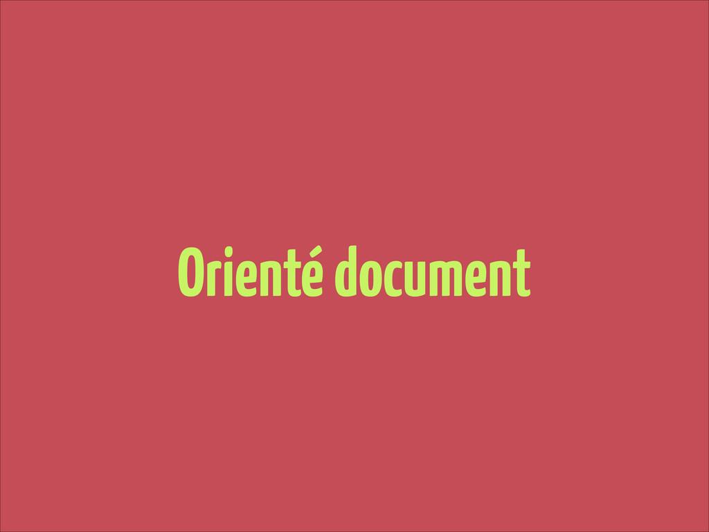 Orienté document